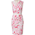 Giambattista Valli Draped Floral Print Sheath Dress