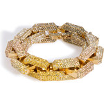 Eddie Borgo Gold-Plated Large Supra Link Bracelet with Crystals