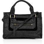 Topshop Suede and Leather Crossbody Bag