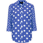 Topshop Mix Spot Shirt