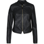 Tally Weijl Black Leather Zip Up Jacket