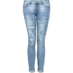 Tally Weijl Light Blue Destroyed Skinny Jeans