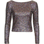 Topshop **Sequin Low Back Top by WYLDR