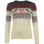 Star Xmas Fair Isle Knitted Sweatshirt dámský