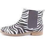 Zebrované kožené chelsea boty Tamaris