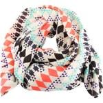 Barevný vzorovaný šátek Pieces Selma