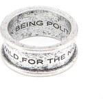 Prsten stříbrné barvy Icon Brand Wild For The Night