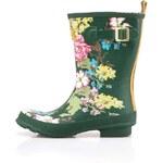 Zelené květované dámské holínky Tom Joule Molly Welly