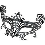 Topshop Black Plastic Filigree Mask