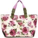 Prostorná kabelka LULU Australia s potiskem růží