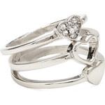 FOREVER21 Rhinestoned Heart Ring Set