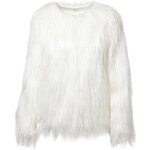 Tally Weijl White Shaggy Fur Jacket