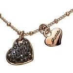 Guess UBN81086 dámský řetízek náhrdelník srdíčka