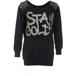 Terranova Light sweatshirt with writing and studs