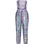 Mary Katrantzou Printed Strapless Lanta Jumpsuit in Multi