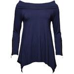 Dámská tunika se zipem na rukávu - modrá - Uni (S-L)Glamorous by Glam