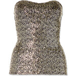 Tally Weijl Gold Sequined Bandeau Top