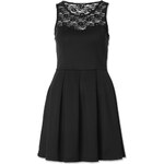 Tally Weijl Black Neoprene Skater Dress with Lace
