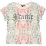 """Tally Weijl Beige """"J'aime"""" Floral Print T-Shirt"""