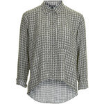 Topshop Window Curve Hem Shirt