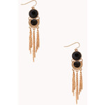 Forever 21 Chic Faux Stone Drop Earrings
