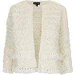 Topshop Hand-Knitted Stitch Cardigan