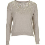 Topshop Scatter Embellished Necklace Jumper