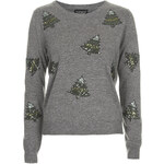 Topshop Sequin Christmas Tree Sweater