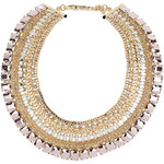 Topshop Premium Five Row Stone Collar