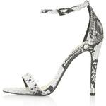 Topshop RUBY Snake Effect High Heel Sandals