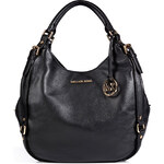 Michael Michael Kors Leather Large Bedford Hobo in Black