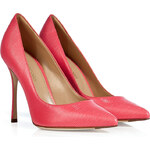 Sergio Rossi Printed Leather Pointed Toe Pumps