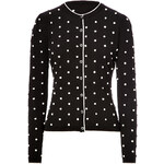 RED Valentino Cotton Polka Dot Knit Cardigan