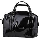 Luxusní lakovaná kabelka Benetton / Klee - černá univerzální