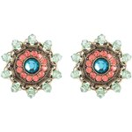Konplott MAHARANI Ohrringe mehrfarbig/antikmessingfarben
