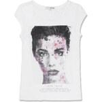 """Tally Weijl White """"Model"""" Print T-Shirt"""