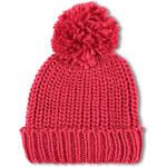 Tally Weijl Red Knitted Beanie Hat with Pom Pom