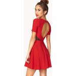 FOREVER21 Clear Cut Textured Skater Dress