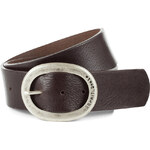 Esprit wide leather belt with ornamental buckle