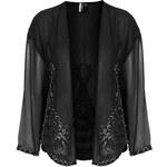 Topshop Embellished Chiffon Jacket
