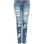 Tally Weijl Blue Destroyed & Tapered Girlfriend Jeans