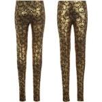 Kalhoty dámské Fabric All Over Print Black/Gold Pais 8 (XS)