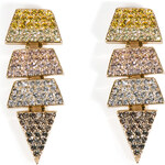 Eddie Borgo Gold-Plated Crystal Encrusted Earrings