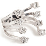 Delfina Delettrez 18kt White Gold Big Ring with Diamonds