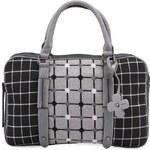 Černo-šedá kostkovaná taška na notebook Tantrend
