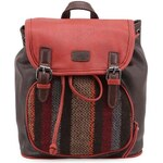 Červeno-hnědý dámský batoh se vzorem Tantrend