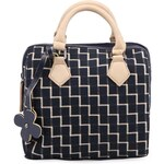 Krémovo-modrá vzorovaná kabelka Tantrend