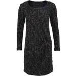 Černé žíhané šaty se zipem Maison Scotch