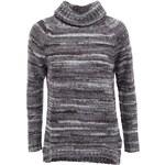 Tmavě šedý delší svetr s rolákem Vero Moda Livia