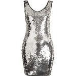 Topshop **Sequin Bodycon Dress With Binding by Rare